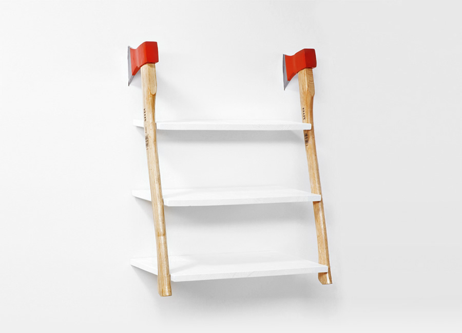 Ready-made Collection: Zweisamkeit – Axe shelf (2011)